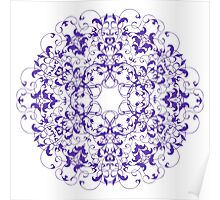 Abstract circular pattern Poster