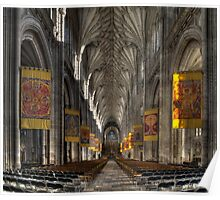 Winchester Cathedral Aisle Poster