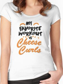 My favorite workout is cheese curls Women's Fitted Scoop T-Shirt