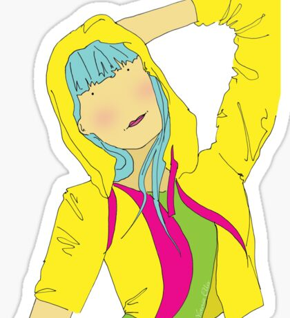 Girl Pose in Hoodie Sticker