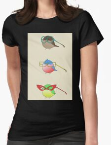 Funny birds Womens Fitted T-Shirt