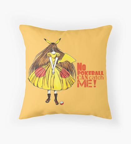 No pokeball can catch me ! Throw Pillow