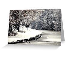 A Snowy Walk Greeting Card