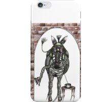 The flying zebra who loved coffee iPhone Case/Skin