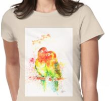 """Love Birds"" Womens Fitted T-Shirt"