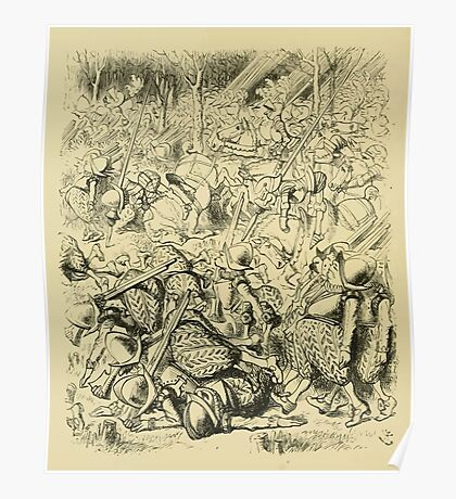 Through the Looking Glass Lewis Carroll art John Tenniel 1872 0158 Then Came the Horses Poster