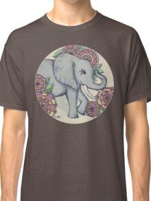 Little Elephant in soft vintage pastels Classic T-Shirt