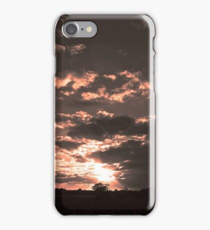 cloudy sunset iPhone Case/Skin
