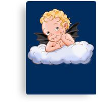 Even angels have teeth...  Canvas Print