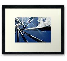 Spiral Sculpture on Blue Sky Framed Print