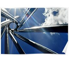 Spiral Sculpture on Blue Sky Poster