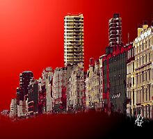 Buildings at Dawn by Mick Harrison