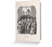 Cartoons by Sir John Tenniel selected from the pages of Punch 1901 0083 The Waits Greeting Card