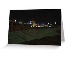 Brisbane City Skyline at night Greeting Card