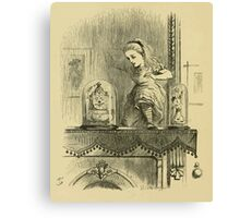 Through the Looking Glass Lewis Carroll art John Tenniel 1872 0032 The Other Side Canvas Print
