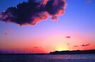SUNSET,KEY BISCAYNE,FLORIDA by Chuck Wickham