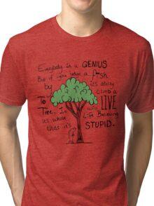 """""""Einstein's Fish"""" Tri-blend T-Shirt"""