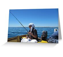 Hot today Pirate Pete! Point Turton, Spencer Gulf, Sth, Australia. Greeting Card