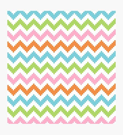 Light Pixel Chevron Photographic Print