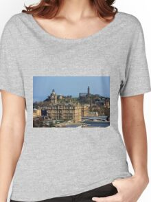 The Balmoral Hotel from the Castle Women's Relaxed Fit T-Shirt