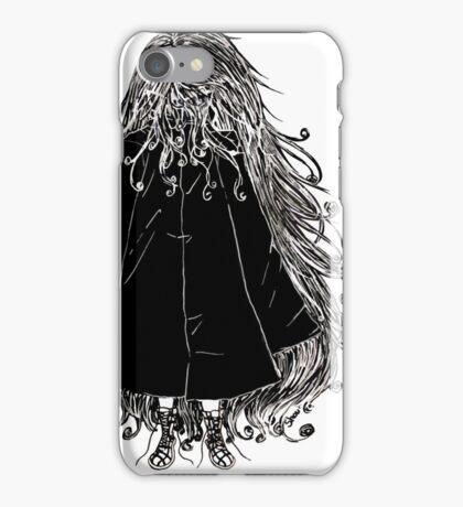 Faceless Girl in coat iPhone Case/Skin