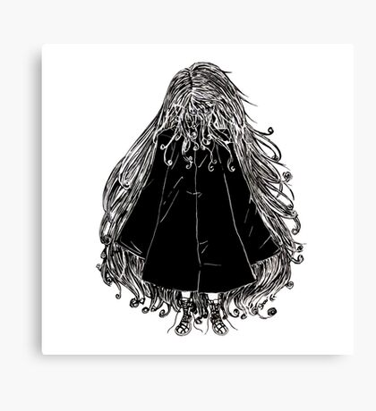 Faceless Girl in coat Canvas Print