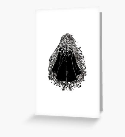Faceless Girl in coat Greeting Card
