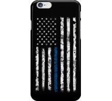 Blue Line (White) V2 Vertical iPhone Case/Skin