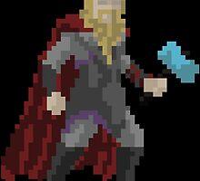 8-Bit Thor by rosabelledraws