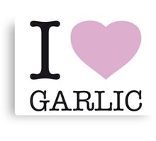 I ♥ GARLIC Canvas Print
