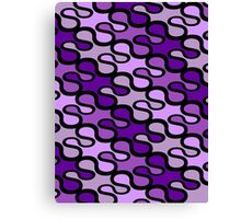 Retro loops - purple Canvas Print