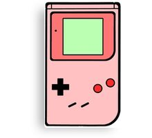 Pink vintage gameboy series Canvas Print
