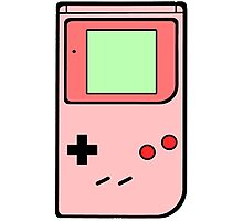Pink vintage gameboy series Photographic Print