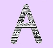 'A' Patterned Monogram by tadvani