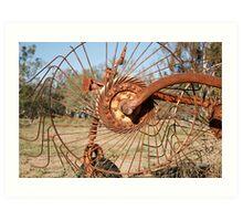 Lemnos-farm equipment Art Print