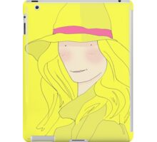 Girl In Hat With Purple Ribbon iPad Case/Skin