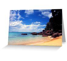 Onemana Beach, Coromandel Greeting Card