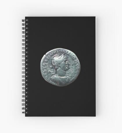 Ancient Roman Coin HADRIAN Spiral Notebook