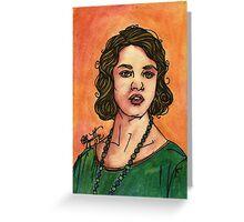 Lady Sybil Greeting Card