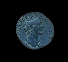 ANCIENT ROMAN COIN - MARCUS AURELIUS by sixstringphonic