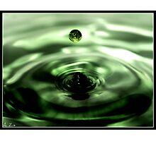 Iridescent Green Fountain Photographic Print