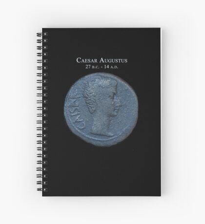 Ancient Roman Coin - AUGUSTUS Spiral Notebook