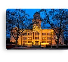 six-fifteen: Sacramento's Old City Hall under lights Canvas Print