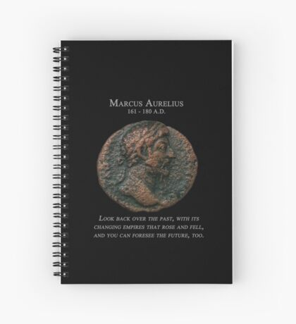 Ancient Roman Coin - MARCUS AURELIUS - Meditations Spiral Notebook