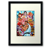 Ryu smash 4 Framed Print