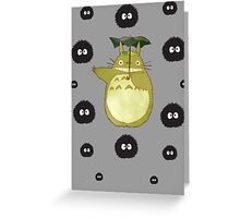 Totoro and Soot Sprites Greeting Card