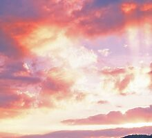 SUNBEAMS AT SUNSET by Chuck Wickham