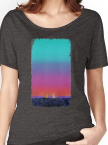The Lion King - Simba and Nala in Savannah Women's Relaxed Fit T-Shirt