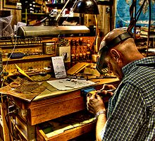 Watchmaker & Workbench by Bill Wetmore