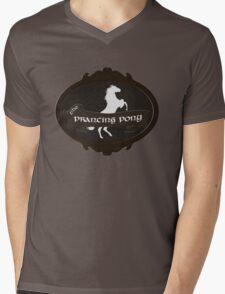 Prancing Pony Mens V-Neck T-Shirt
